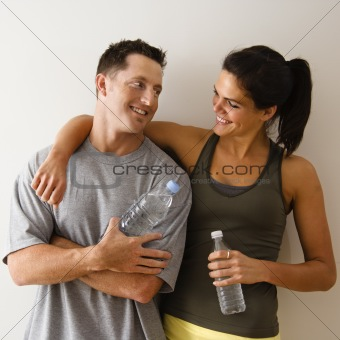 Happy fitness couple
