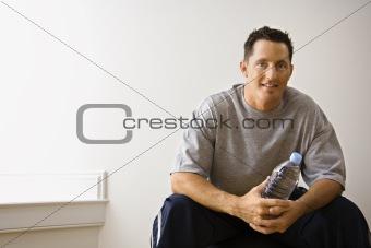 Man at gym portrait