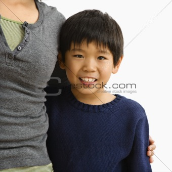 Boy with mother