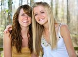 Beautiful Teen Sisters in Woods
