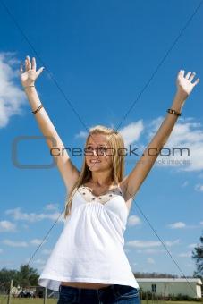 Blond Teen Praise