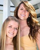 Portrait of Beautiful Sisters