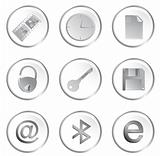 Vector white round web buttons set 3