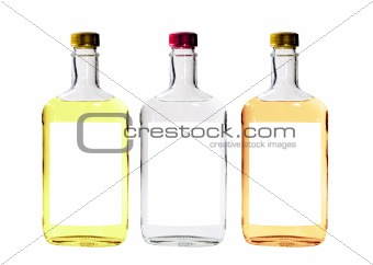 Alcohol Bottles Isolated