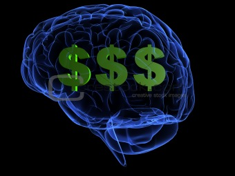 brain and dollar