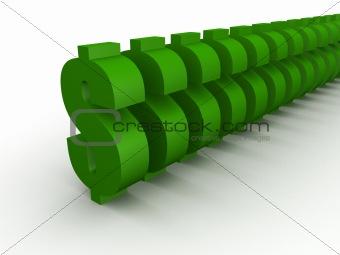 green dollar signs
