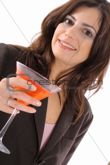 shot of a woman having a cocktail
