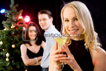 Woman at a party