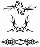 tribal tattoo designs / vector illustration