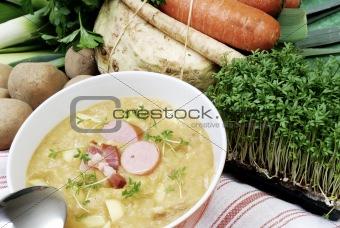 Potatoes soup in a bowl