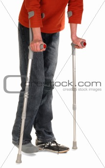 Person with Crutches
