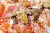 closeup of italian pizza