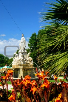 City park in Nimes France