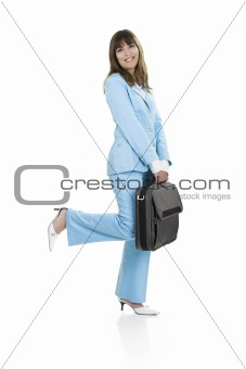 Business woman with a briefcase
