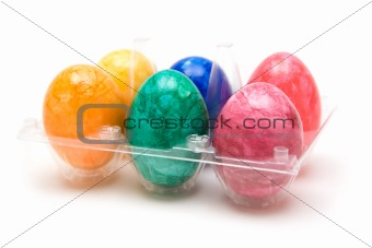 Six Colored Easter Eggs