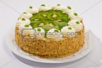 cake with kiwi