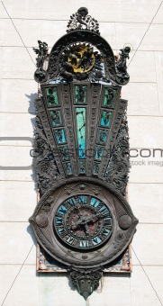 An embossed clock