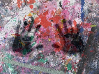 Abstract with black hands