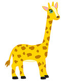 Cartoon animal giraffe