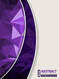 Abstract purple brochure with purple transparent stripe