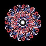 graphic circular pattern