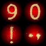 zero and nine digits and symbols