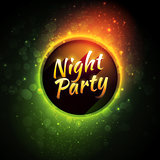Vector colorful flyer premium template for night party with bokeh lights