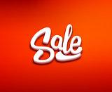 Sale 3D typography banner. Vector design template