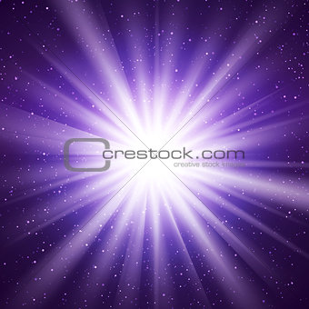 Abstract Vector Background With Burst In Space