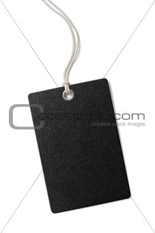 black paper price or gift tag isolated