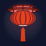 Red Chinese  lantern.