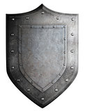 metal medieval shield or crest isolated