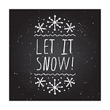 Let it snow - typographic element