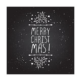 Merry Christmas - typographic element