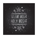 Silent night holy night - typographic element