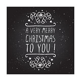 A very merry christmas to you - typographic element