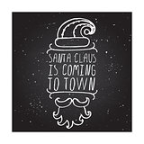 Santa Claus is coming to town - Christmas  typographic element