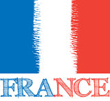 vector abstract France flag