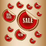 sticker Sale tags