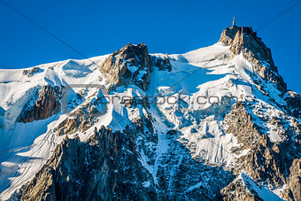 Aiguille du Midi, 3 842 m height, French Alps, Chamonix, France