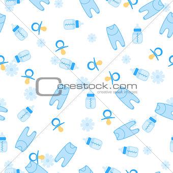 Baby Shower Seamless Pattern