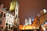 Staromestske Square in the city of Prague for Christmas