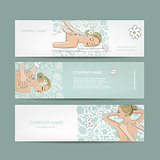 Banners design, women in spa saloon