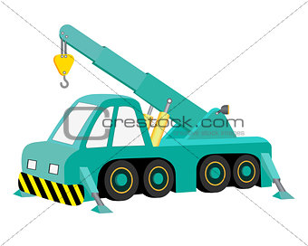 car crane blue