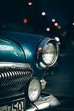 Headlight of old car