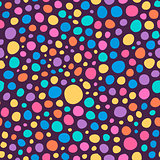 Abstract Colorful Hand Sketched Circles Seamless Background Pattern