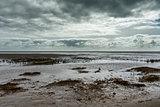 Beach in Sonderho at Fanoe in Denmark where the wadden sea begin