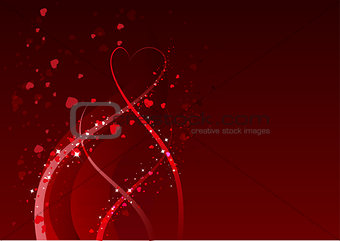 Abstract background for Valentines day. Red heart symbol of love