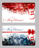 Set of cards with Christmas BALLS, stars and snowflakes, illustration.