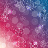 Abstract Beauty Christmas and New Year Background with Snow, Snowflakes. Vector Illustration